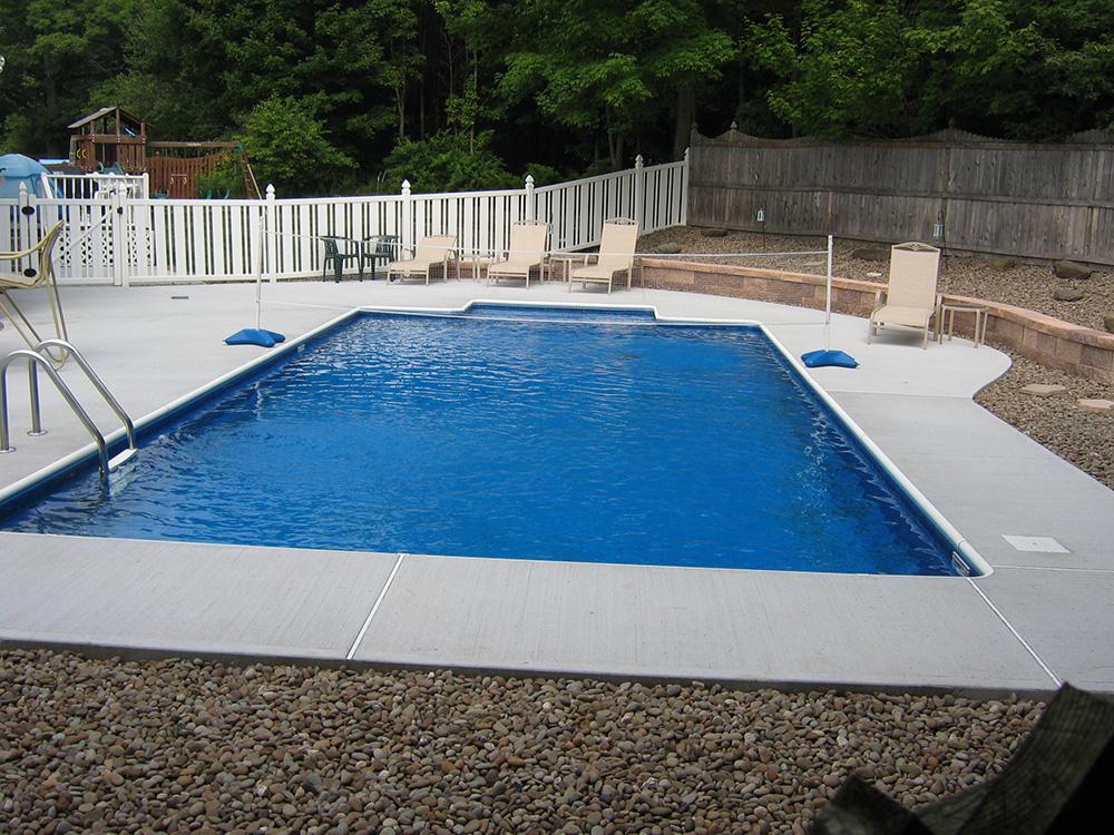 Concrete Stone Pool Patio